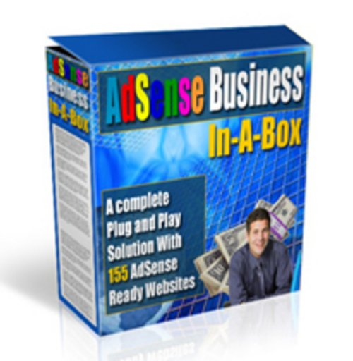 Product picture Adsense Business In a box. making money online.