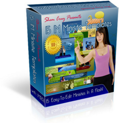 Product picture The Amazing Minisite Template