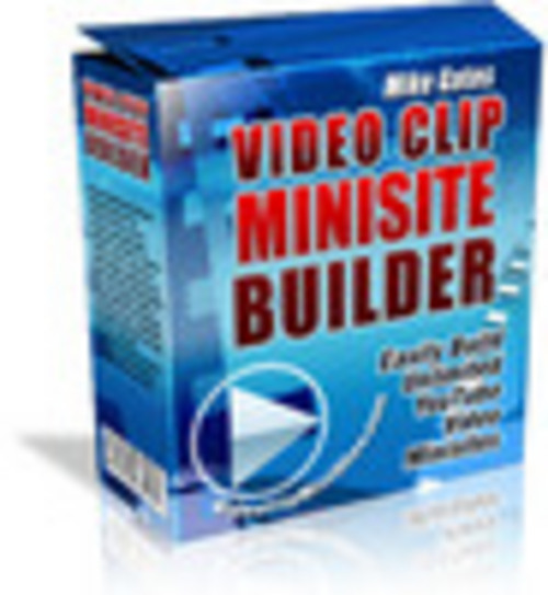 Product picture Video Clip Mini Site Builder Mrr